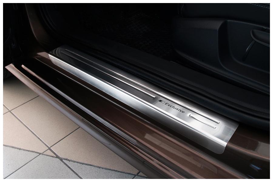 Plaques de seuil exclusives en acier inox adapté pour Skoda Rapid année 2012-