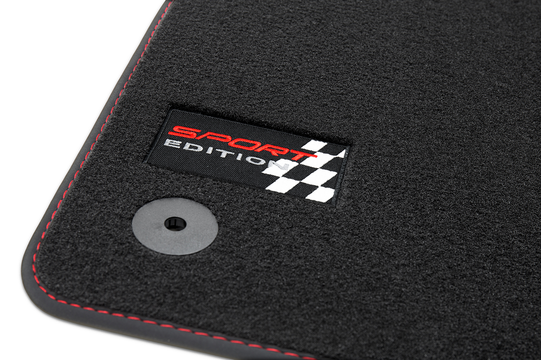 Sport Edition alfombras de coche para Seat Leon II 1P año 2005-2012