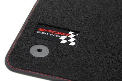 Sport Edition Fußmatten für Seat Leon 2 1P 5-Türer FR Cupra Style Bj. 2005-2012