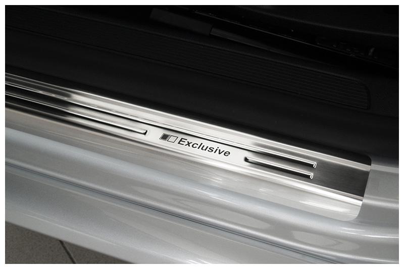 Exclusive acciaio inox set battitacco adatto per VW Passat B6 3C B7 CC