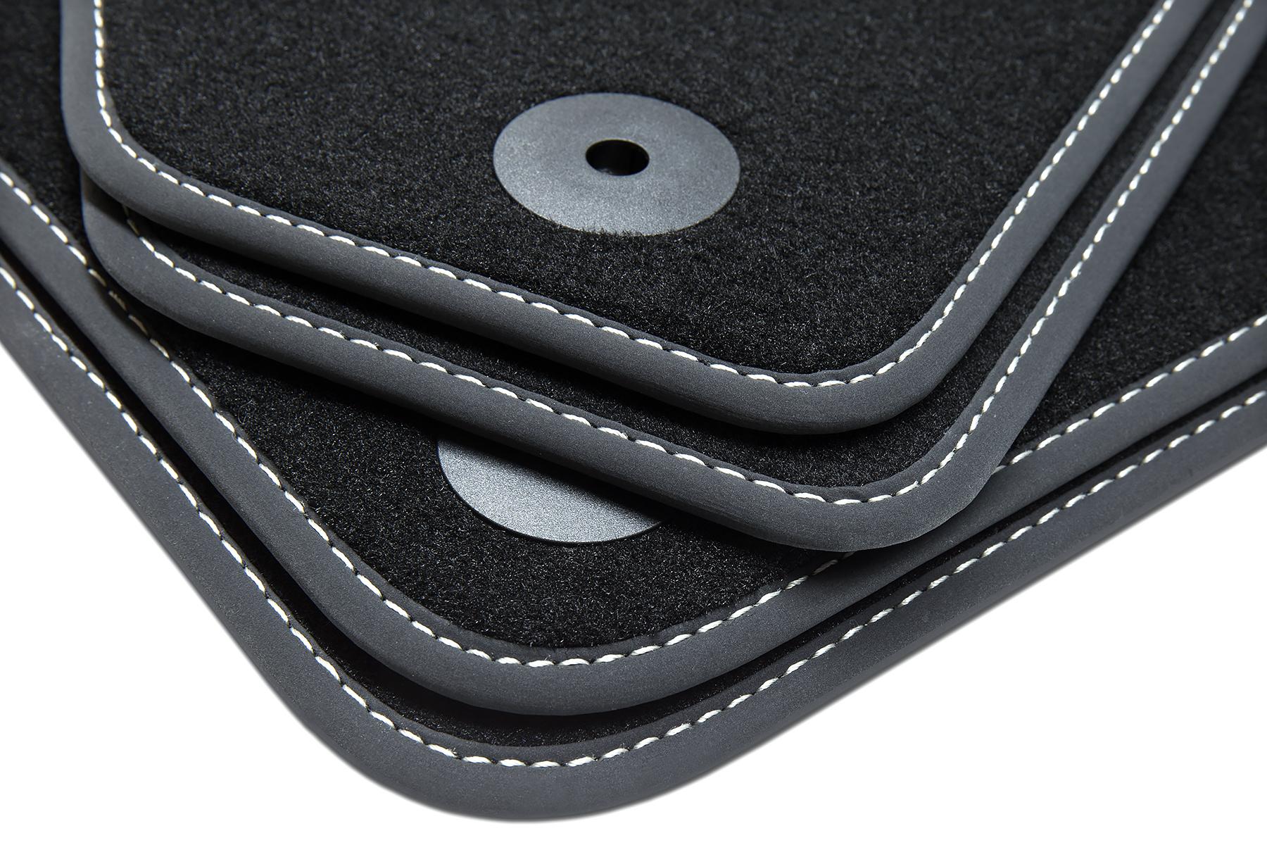 Luxury-line Auto Fussmatten für Mercedes GLC Typ X253 ab Bj 09//2015