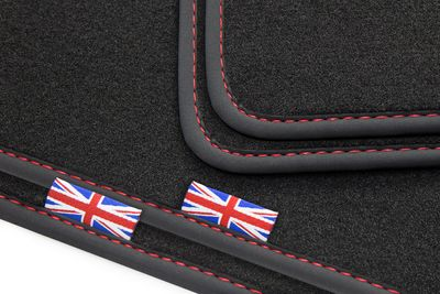 Exclusive  Union Jack floor mats fits for Jaguar XJ (X351) from 2009- L.H.D only