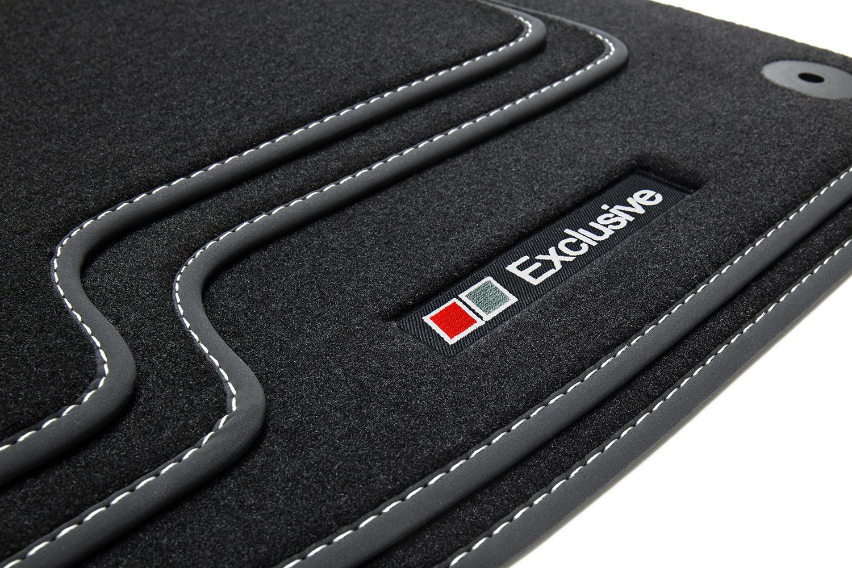 Exclusive-line Design Fußmatten für Audi Q5 1 I 8R Quattro S-Line Bj 2008-2016