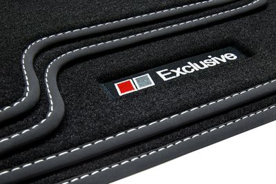 Exclusive Line floor mats fits for Audi A4 B8 8K 2008-11/2015 L.H.D only