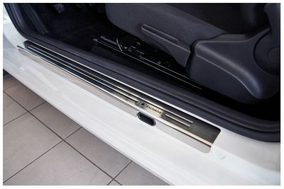 Exclusive stainless steel entry sills fits for VW UP 3-doors 2012-
