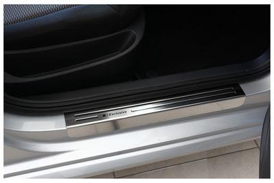 Battitacco  portiere in acciaio inossidabile Exclusive adatto per VW Polo V 6R 6C anno 2009-