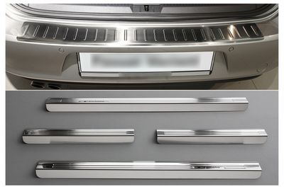 Stainless steel door sills and bumper protector VW Passat B6 3C 2005-2010