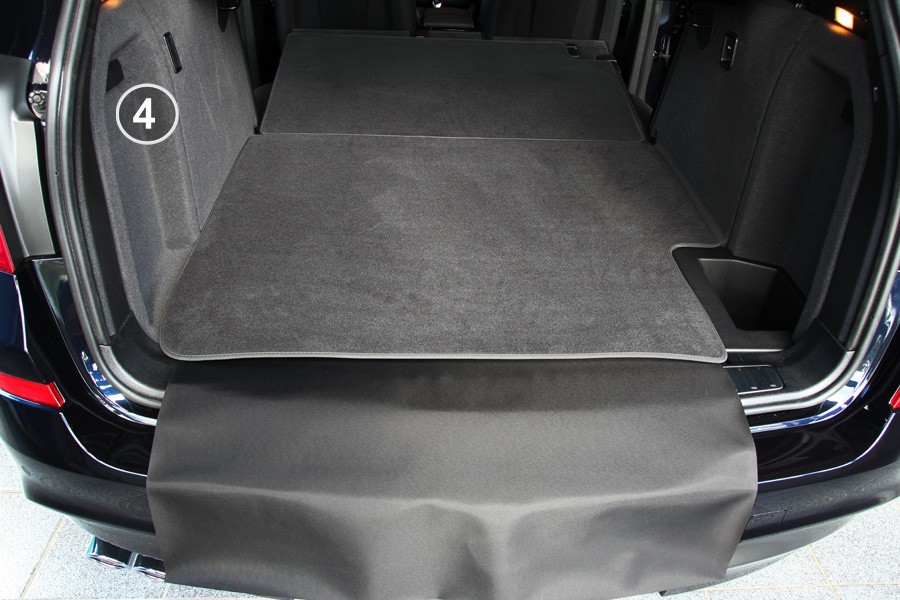 Qwldmj Tappetino Bagagliaio per BMW X4 F26 2014 2015 2016 2017 2018 Boot Liner Tappetino Antiscivolo e Impermeabile Accessori 1 Set Tappetino Bagagliaio Posteriore Car Cargo