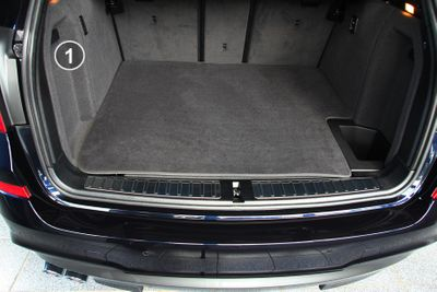 3-part trunk mat with bumper protection fits for BMW X3 F25 X4 F26 Series