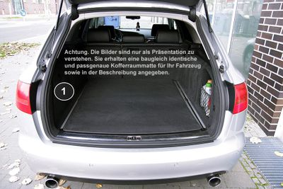 3-part trunk mat with bumper protection fits for BMW X5 E70 with rails 2007-