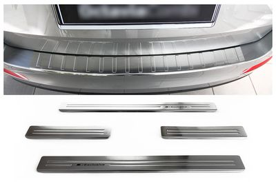 Stainless steel door sills and bumper protector fits for Skoda Octavia 3 Combi 2013-01/2017