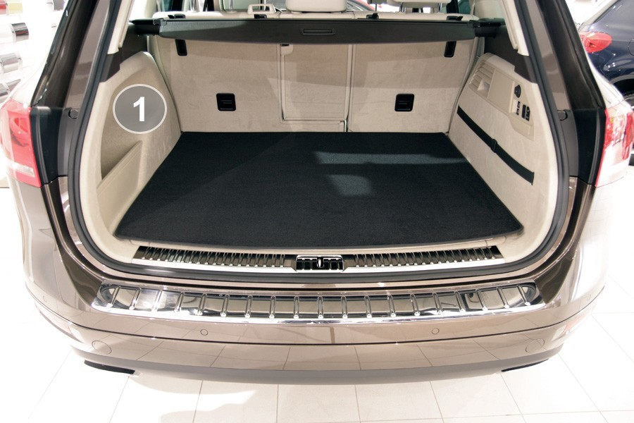 AT Fußmatten für VW TOUAREG I 1 7L Bj.2002-2010 Velours Autoteppiche Matten