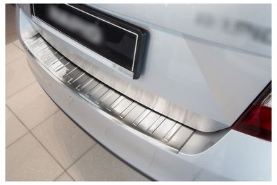 Stainless steel bumper protector fits for Skoda Rapid 2013-