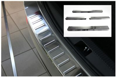 Entry sills and stainless steel bumper protectors fits for Skoda Rapid Spaceback