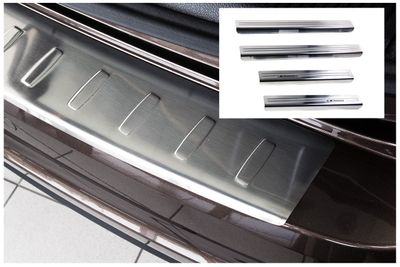 Stainless steel door sills and bumper protector fits for VW Sharan 2 II Alhambra 2 II 2010-