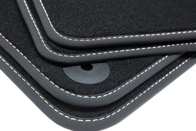 Winter floor mats fits for Audi A3 8P 8PA 2003-2012 Black L.H.D only