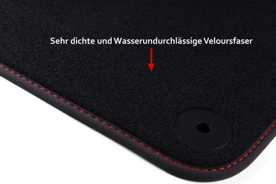 Winter floor mats fits for Seat Ibiza 6L MK IV 2002-2008 L.H.D only
