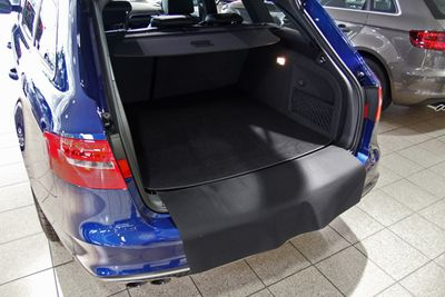 2-part trunk mat with bumper protection fits for Audi A4 8E 8K Exeo