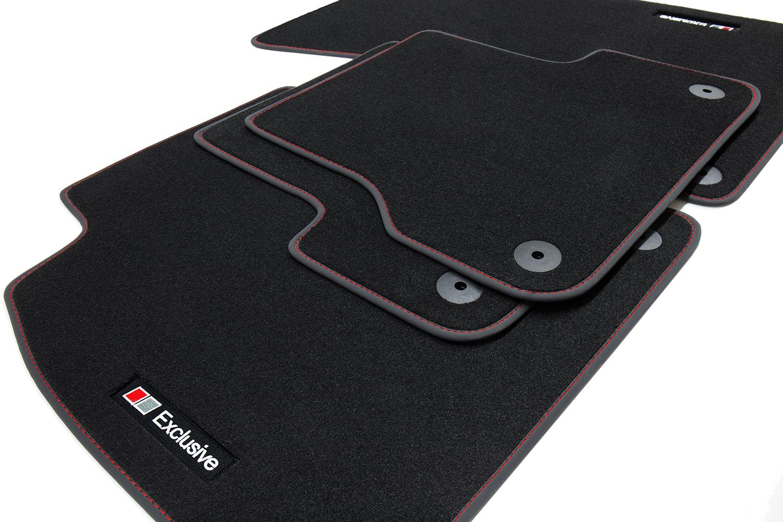 2002-2010 Exclusive Line Fußmatten für Audi A8 D3 4E Quattro S-Line Bj
