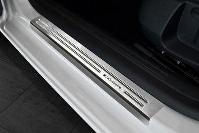 Battitacco  portiere in acciaio inossidabile Exclusive adatto per Seat Leon 3 III 5-portes ST
