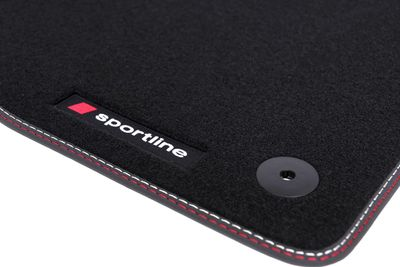 Premium SPORTLINE floor mats for SEAT LEON 2 II 1P from 2005-2012 (LHD ONLY!)