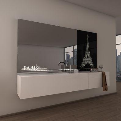 Teil-Lack-Badezimmerspiegel Paris
