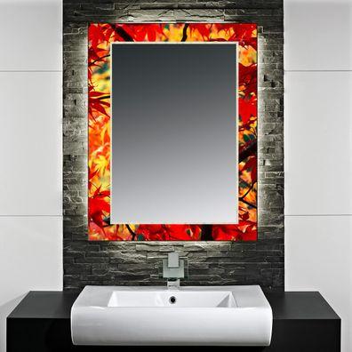 VSG Design-Badezimmerspiegel Autumn Leaves