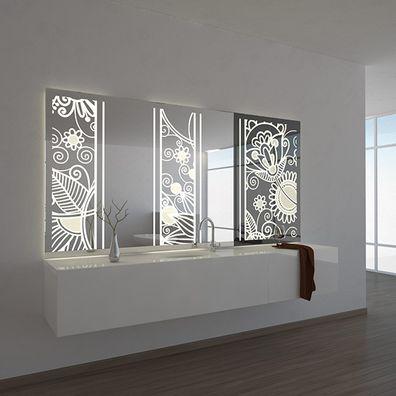 LED-Wandspiegel lackiert  Circus