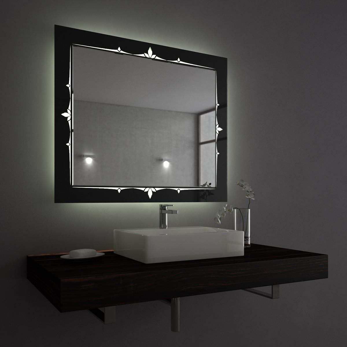 edler lichtspiegel auf lacobel queen exklusive spiegel. Black Bedroom Furniture Sets. Home Design Ideas