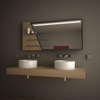 Design-Spiegelmöbel mit Regalen  Turold