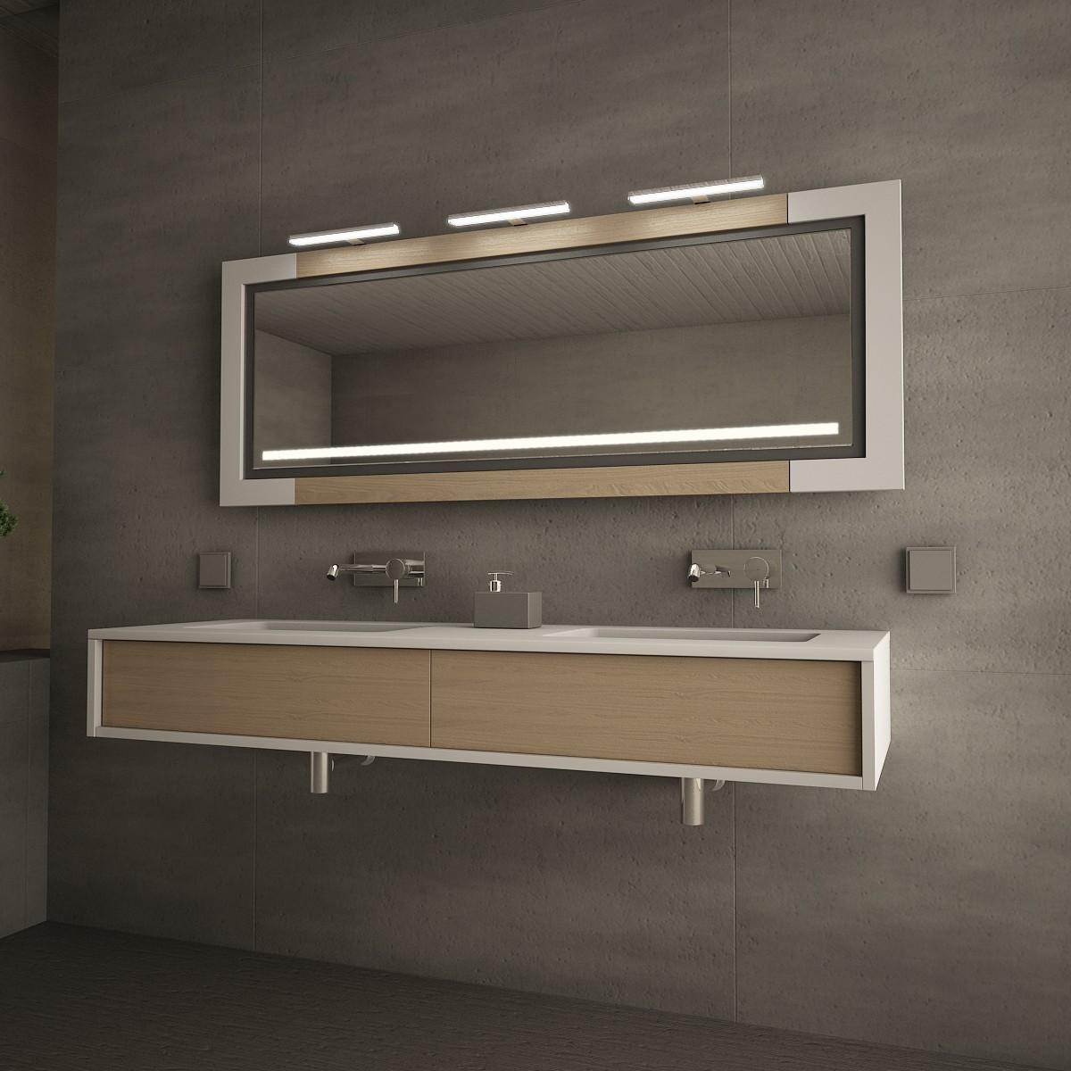 spiegelm bel arnsberg mit externen leuchten esther spiegel produkte spiegelm bel 9000471. Black Bedroom Furniture Sets. Home Design Ideas