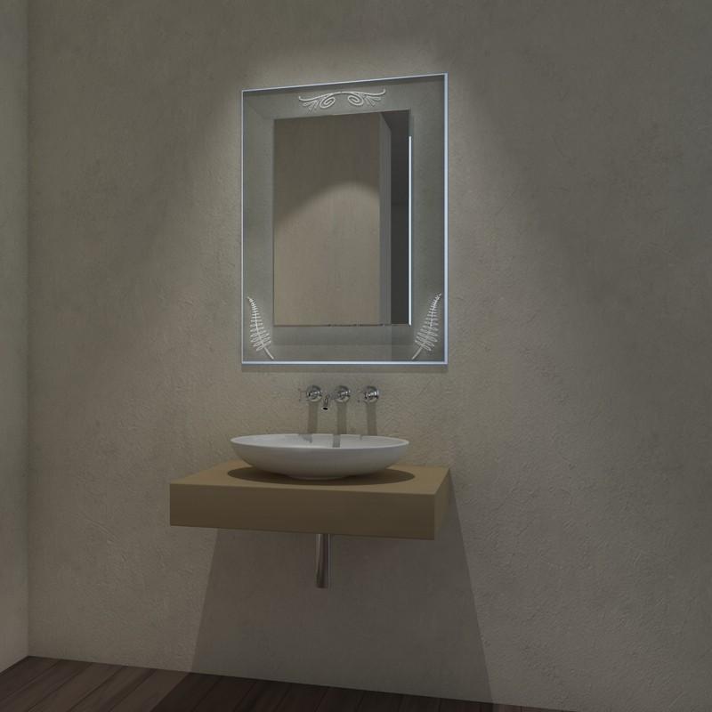 badezimmerspiegel auf glas mit led ambiente licht solingen exklusive spiegel spiegel auf glas. Black Bedroom Furniture Sets. Home Design Ideas