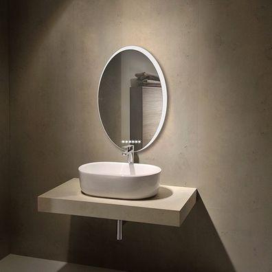 Ovaler Badezimmerspiegel mit LED  Level
