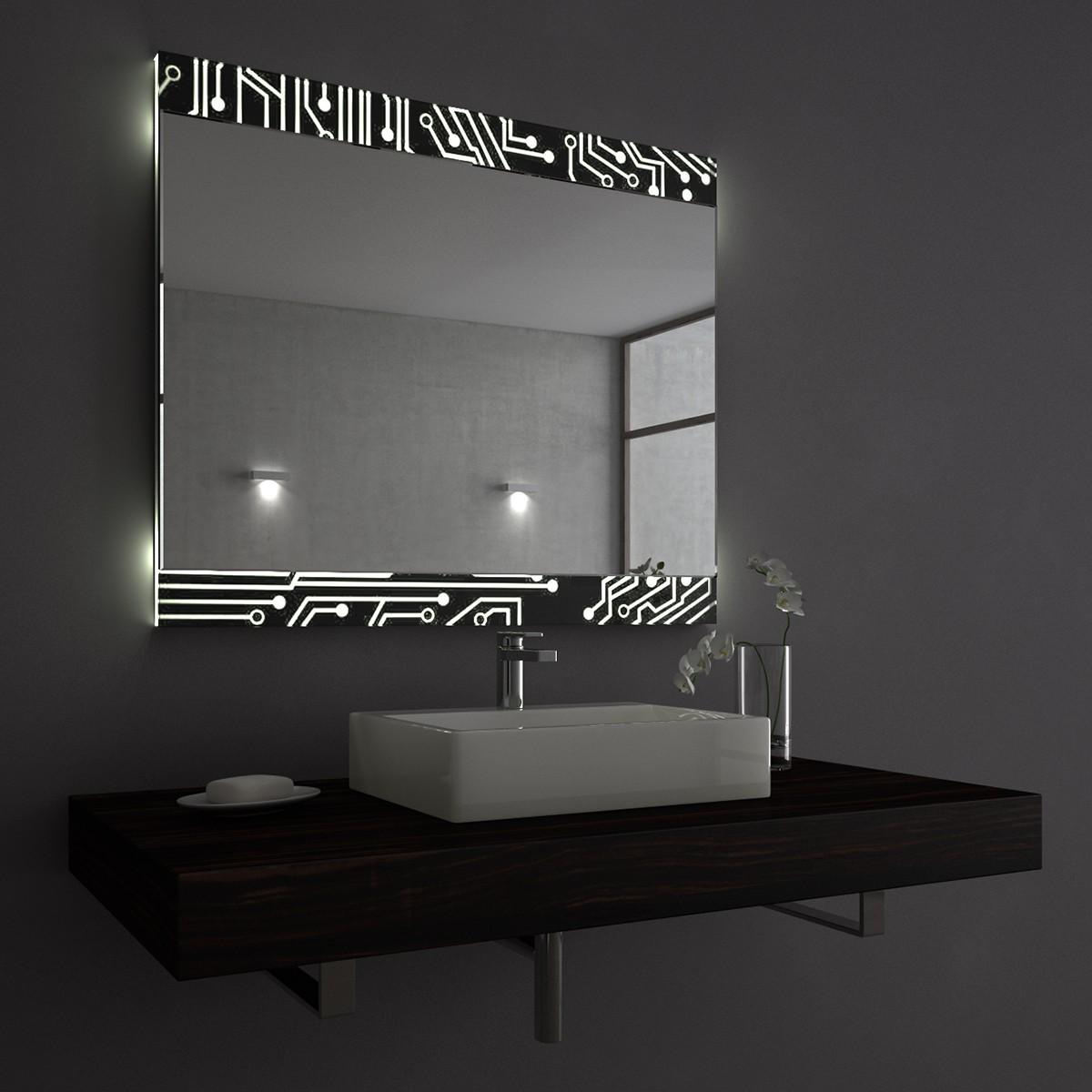 badezimmerspiegel mit licht electric oben und unten led 9000524. Black Bedroom Furniture Sets. Home Design Ideas