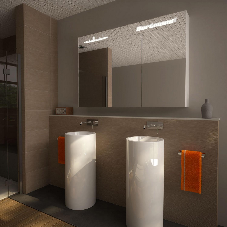 spiegelschrank mit licht dortmund badm bel spiegelschr nke 9000758. Black Bedroom Furniture Sets. Home Design Ideas