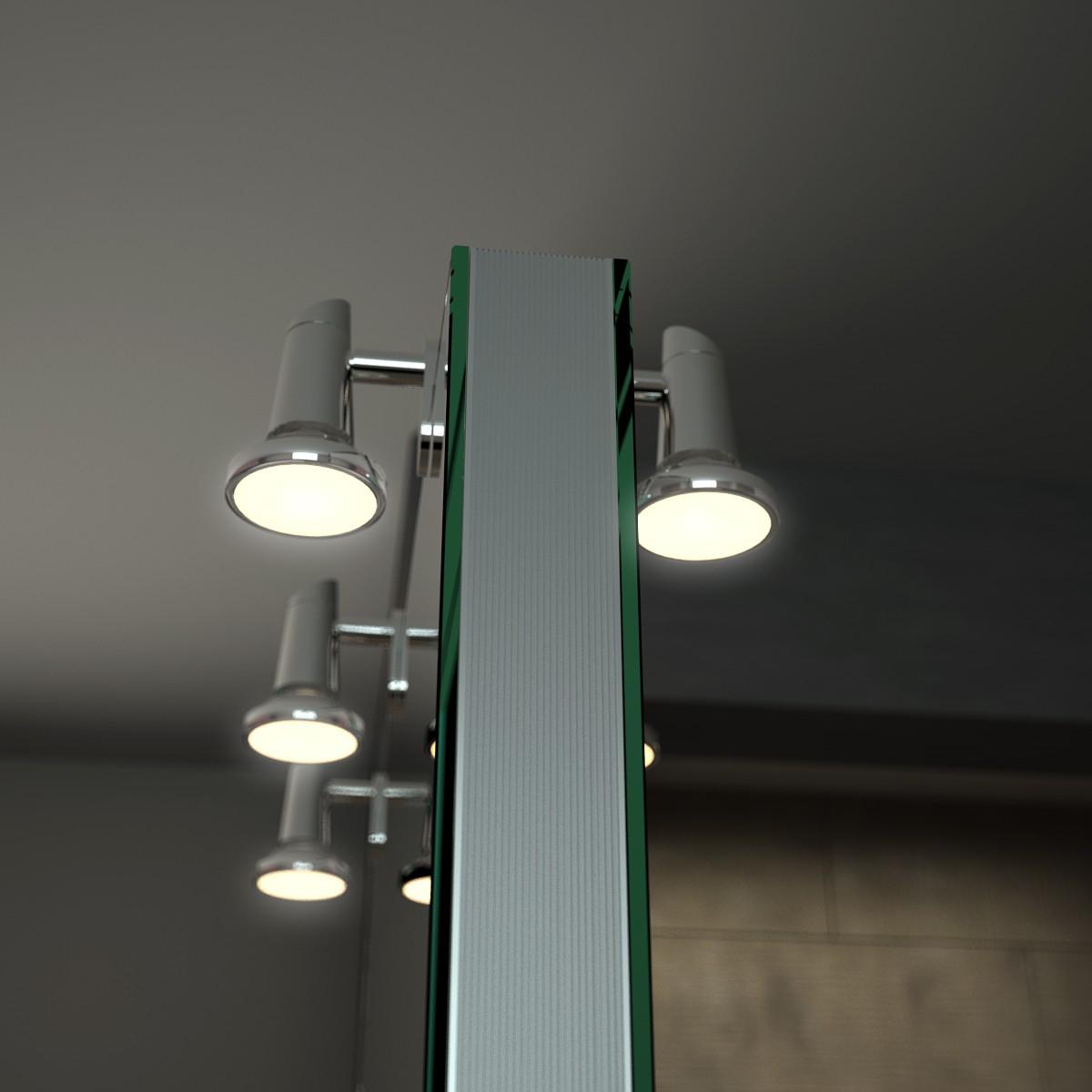spiegel raumteiler mit leuchte sticker exklusive spiegel. Black Bedroom Furniture Sets. Home Design Ideas