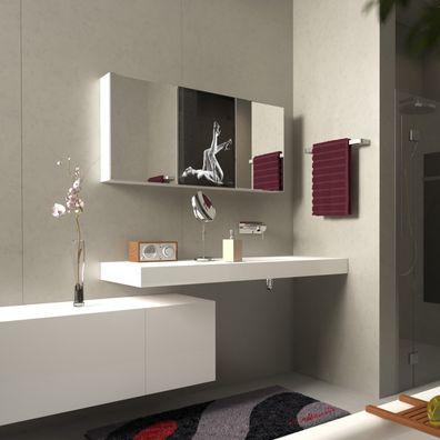 Spiegelschrank mit Lacobel Rainshower