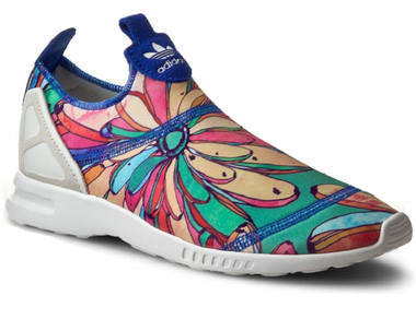Adidas Originals The Farm Company Bananas Torsion ZX Flux ADV Smooth Slip On Sneaker bunt/weiß – Bild 1
