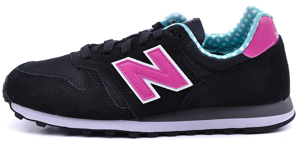 black and pink new balance 373