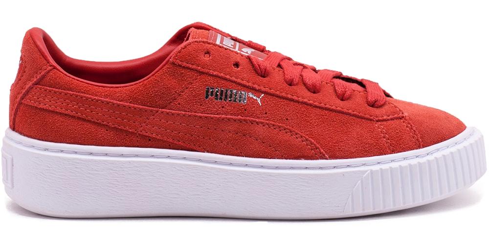 Details zu Puma Suede Platform Classic Retro Sneaker Turnschuhe Sportschuhe rot 362223 03