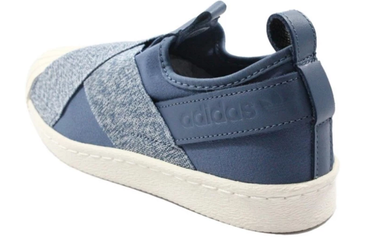 Adidas Originals Superstar SlipOn Sneaker blau/weiß – Bild 3