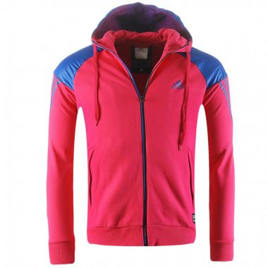 ced9bfe2c8a7 Adidas TC FZ Full Zip Hoody Hoodie Jacket Jacke Trainingsjacke pink blau
