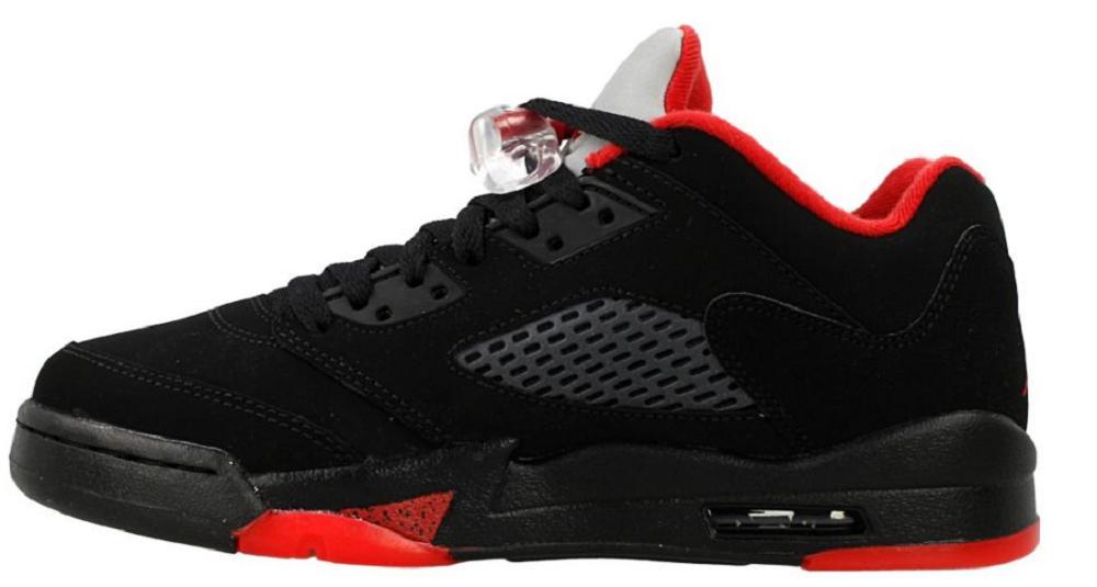 Nike Air Jordan 5 Retro Low LTD Alternate Basketballschuh Sneaker schwarzrot