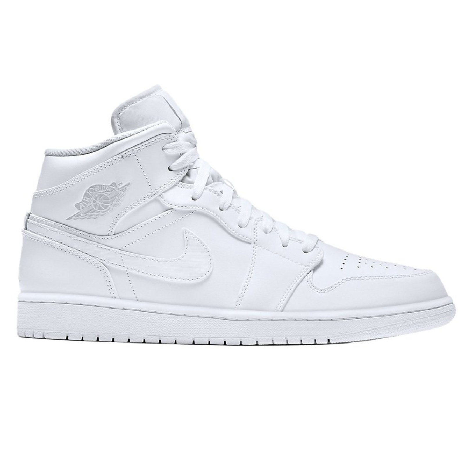 fa2b337cca7 Details about Nike Air Jordan 1 MID LEA all white Men´s SneakersSport Shoes  554724 104 SALE