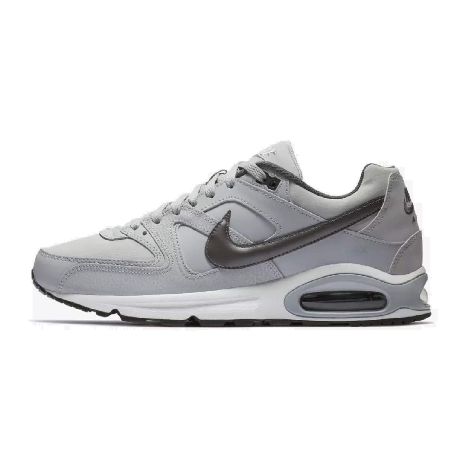 3768cc5736 Nike Air Max Command Leather Sneaker Sport Shoes gray/dark gray/white  749760-012