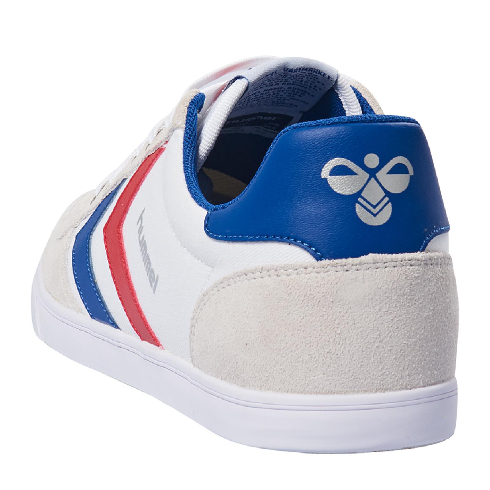 brand new dbb39 7e3ea Hummel Slimmer Stadil Low Indoor Sneaker Schuhe weiß/blau/rot 063512-9228