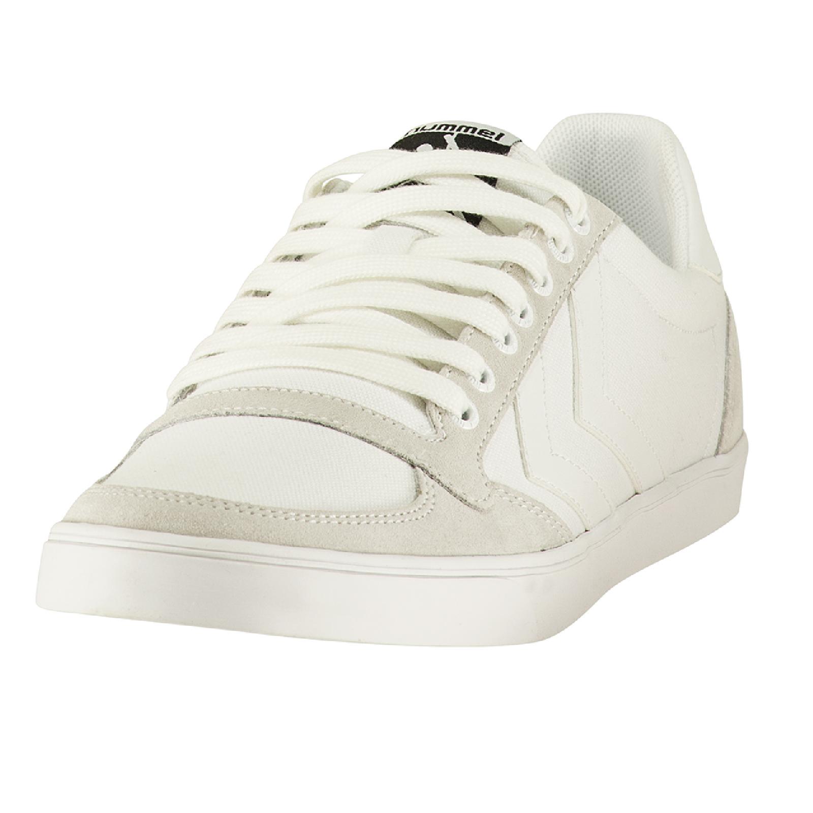oficjalny dostawca nowa wysoka jakość buty do biegania Hummel Slimmer Stadil Tonal Low Indoor Sneaker Schuhe All White weiss  064466-9001