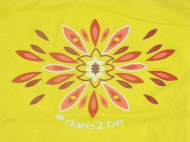 Dare2Be Topo Damen T-Shirt gelb – Bild 3