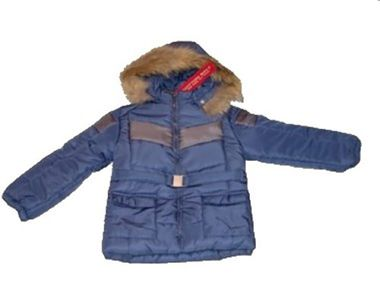 Cotton Belt Winterjacke mit Kapuze Kinderjacke dunkelblau