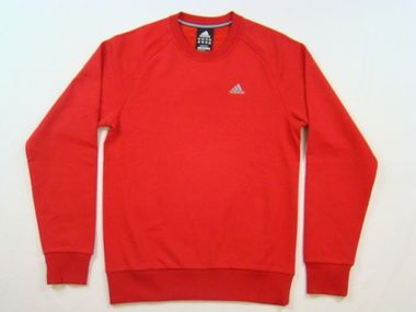 Adidas Performance Essentials Crew Sweatshirt Pullover rot – Bild 1